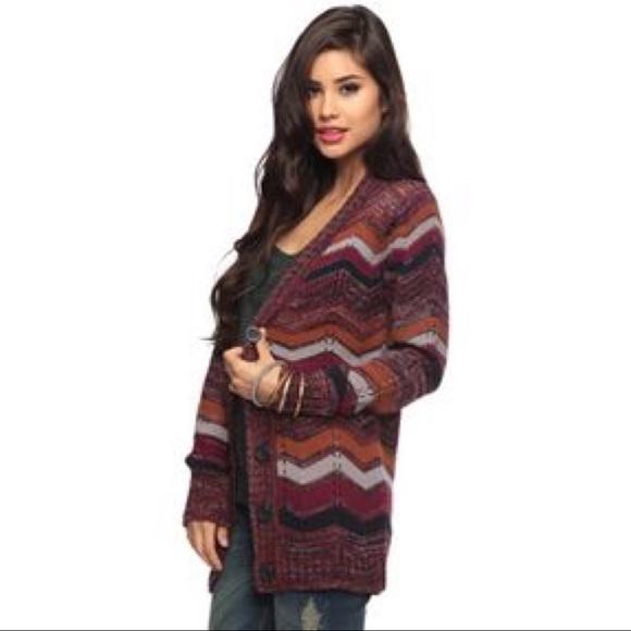 421d1885b Forever 21 Sweaters - ASO Violet Harmon AHS zig zag chevron cardigan F21